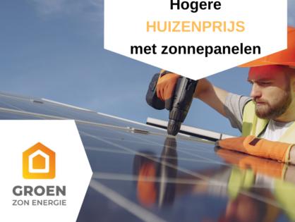 Hogere huizenprijs met zonnepanelen